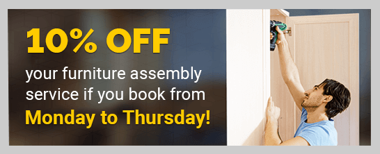Flat Pack Furniture Assembly with 10% Off the Price