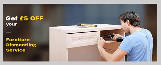 Get £5 Off your furniture dismantling service