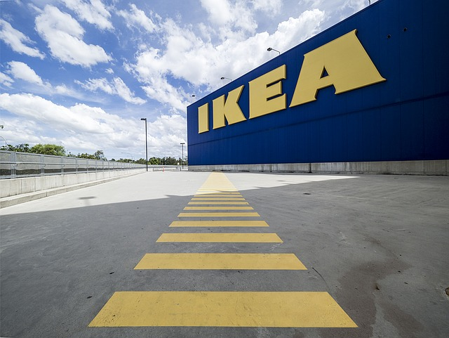 Ikea's signature blue and yellow logo