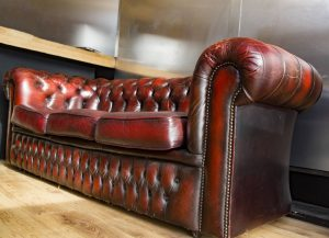 a leather couch for a living room